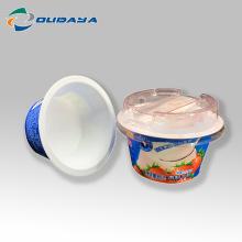 Kundenspezifischer Druckpuddingbecherbehälter mit Deckel