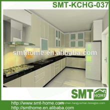 Europe modern modular customized kitchen cabinet vinyl wrap