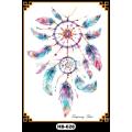 Tatuagem de pena tipo transferência de água tatuagens de penas coloridas tatuagens temporárias