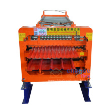 durable in use double deck corrugated and trapezoid steel double layer roll forming machine