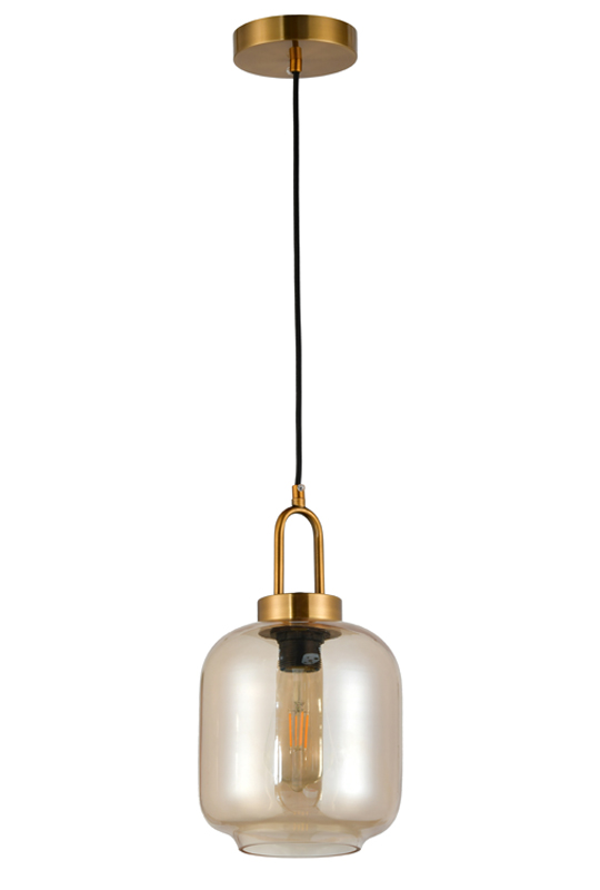 Indoor Amber Glass Lamp