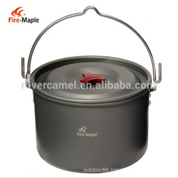 Fire Maple FMC-212 Ultralight Outdoor Camping Pot Aluminum Hanging Pot for 4-5 People 5L Cooking Cookware Set