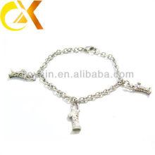 Bracelet en bijoux en acier inoxydable avec pendentif en statue pour fille adorable