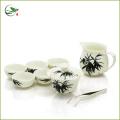 Blue Peony Oolong Teaware Set 1 Gaiwan, 1 Pitcher and 6 Cups, Tea set