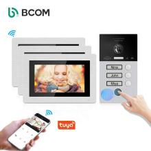 Bcom 3 family user wired waterproof high definition door bell tuya smart doorbell 2021 night vision doorbell camera
