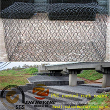 Solid foundation woven wire mesh cages save earth stop flood steel gabion stone cages PVC coated anti corrosion rock cages