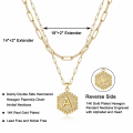 Amazon hot sale personalized necklace with initial letter charm clavicle layered gold plated necklace