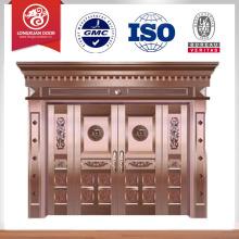 Conception de portes d'entrée en cuivre à prix réduit en gros