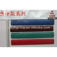 Bleu, rouge, vert, courroie de main courante en caoutchouc