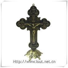 Matel Christian Standing Crucifix Ornament Crucifix (IO-ca093)