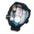 2017 lavável bebê fralda saco multi-função grande capacidade conjuntos de saco de fraldas 9 pcs set moda saco de fraldas atacado