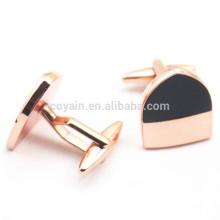 Bulk Cheap Shield Shape Enamel Copper Cufflinks