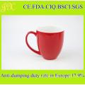 Food Grade Red Ceramic Coffee Mug, Stoneware Coffee Cup