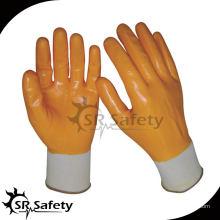 SRSAFETY 13G Вязаные нейлоновые вкладыши для нитрильных покрытий 4343 защитные перчатки