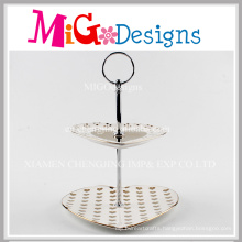 2 Tiers Ceramic Cake Candy Jewelry Wedding Plate