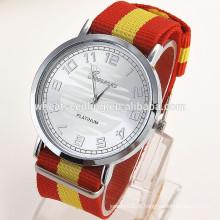 Mais populares produtos genova faixa de couro baratos relógios de couro