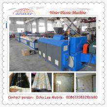 Chaîne de production d'extrusion pour la corniche en plastique de PVC pour la décoration intérieure Nouveau matériel