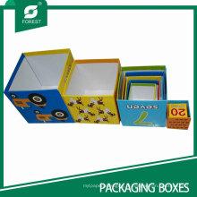 Caixa de papel pequena caixa de cor impressa caixa de papel para o presente