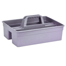 Restaurant special table clean rectangle PP plastic toolbox 3 compartment cleaning tool plastic caddy