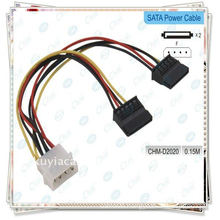 4 pin connecter to 2 Serial ATA Power Splitter Cable