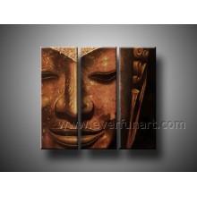 Peinture à l'huile de Bouddha peinte à la main sur toile