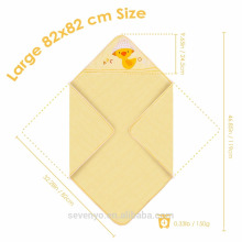 100% Bio-Baumwolle wickeln in gelbe süße Ente extra weich Große Größe 82 * 82 cm Größe Baby Handtuch