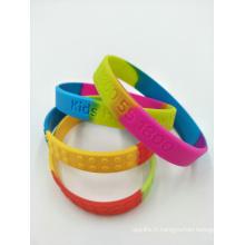 Bracelets de silicone bon marché de promotion
