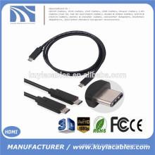 2015 Neue Ankunft 1M zutreffendes USB 3.1 Art C-Mann zum männlichen Kabel-Schnur für nokia n1