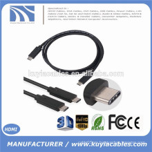 2015 Nuevo tipo verdadero del USB 3.1 del USB 1M de la llegada 1 a la cuerda masculina del cable para el n1 de Nokia