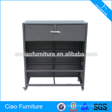 Modern design wicker living room furniture cabinet