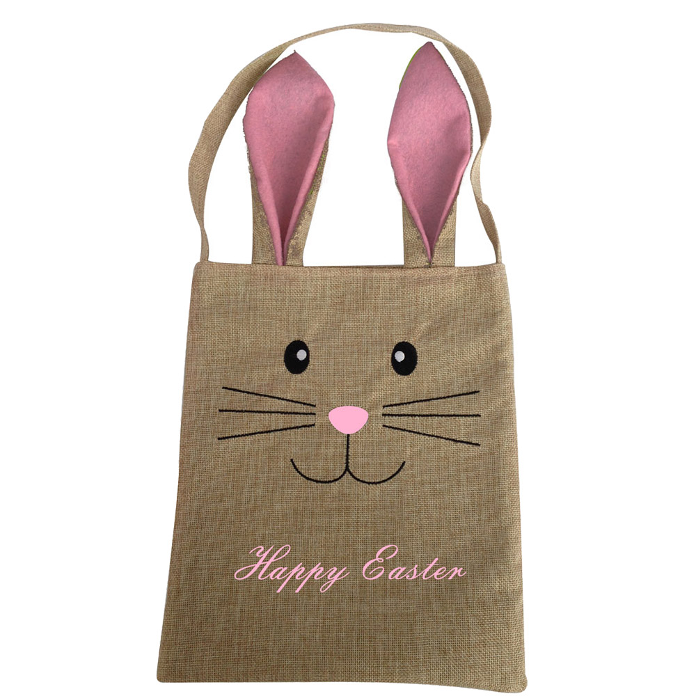 Easter Burlap Bunny Candy Bag