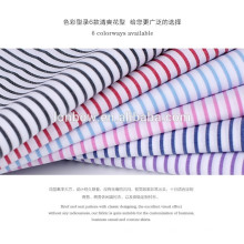 stock lot 100% cotton yarn dyed silk finishing shirting fabric