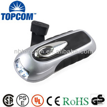 Latest 3 led powerful dynamo hand crank flashlight