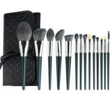 14pcs wholesale makeup brush set with leather bag