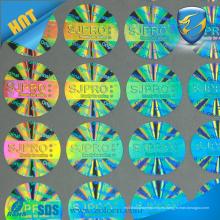 Protección contra la falsificación de la marca de fábrica 3D propia etiqueta engomada del holograma de la insignia