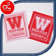 Precio de fábrica Logotipo personalizado de la letra Etiqueta principal / Etiquetas de marca de ropa