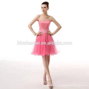 Nuevo mini vestido de noche atractivo del cóctel del Off-hombro corto para el partido