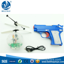 Induction LED Light Crystal Ball Drone With Toy Gun