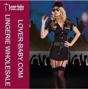 Top Lady Bodyguard Sexy Uniform Fantasy Dresses Costume (L1294)