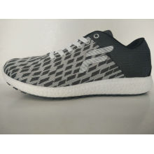 Grey Plaid Knitting Leisure Shoes for Men