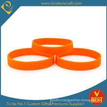 100% Factory Price Custom Debossed Logo Rubber Silicone Wristband for Sports (LN-048)