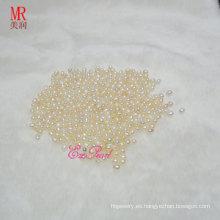 Perlas de Perla de Arroz Blanco de Naturaleza 5-6mm