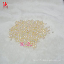 Perles de perles de riz White Nature de 5-6 mm