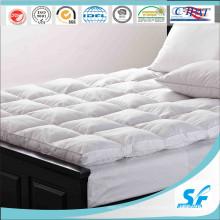 100% algodón patrón y pato de ganso relleno colchón de colchón para el hotel