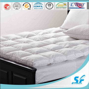 100%Cotton Pattern and Goose Duck Down Fill Mattress Topper for Hotel