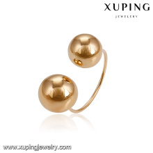 14908 Hot sale simple design ladies jewelry plain stylish beads gold plated finger ring