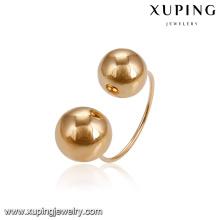 14908 Hot sale simple design senhoras jóias planície elegante contas banhado a ouro anel de dedo