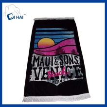 100% Cotton Tassels Beach Towel (QHED5540)