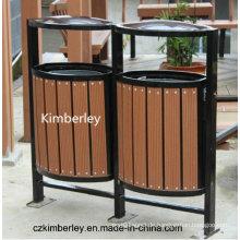 Billig und fein, umweltfreundlich, grüner WPC Mülleimer