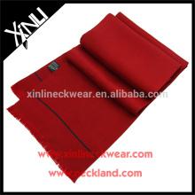 Pañuelo de seda largo estampado color sólido